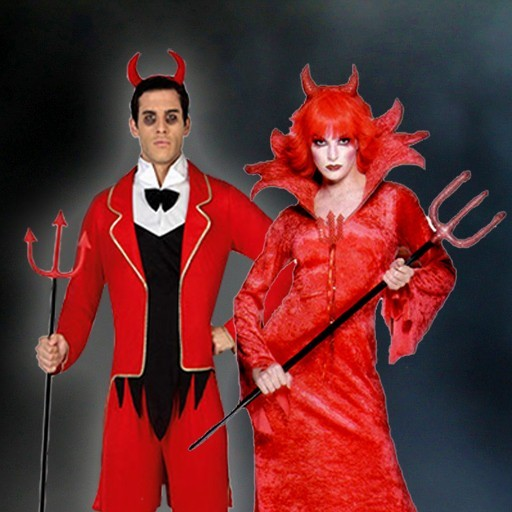 Disfraces de diablesa y demonio
