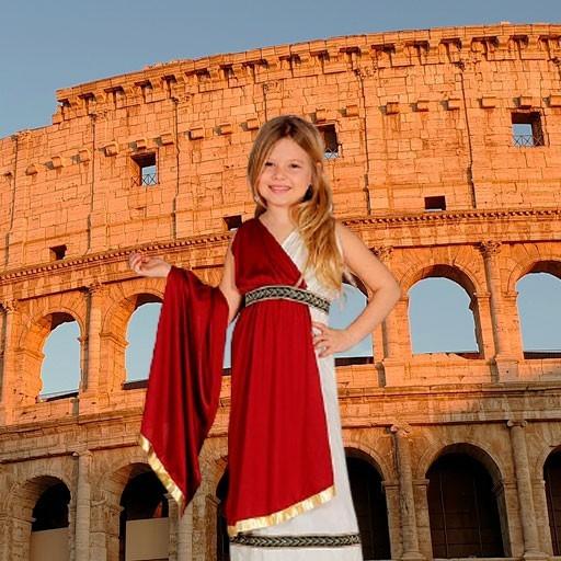 Disfraces de romanos para niña