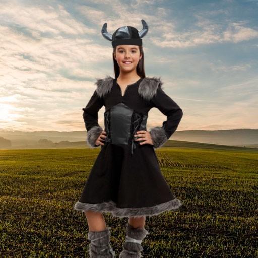 Disfraces de vikingos para niña