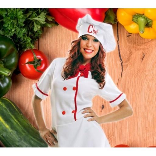 Disfraces de cocineros y chefs para mujer