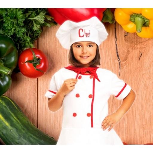 Disfraces de cocineros y chefs para niña