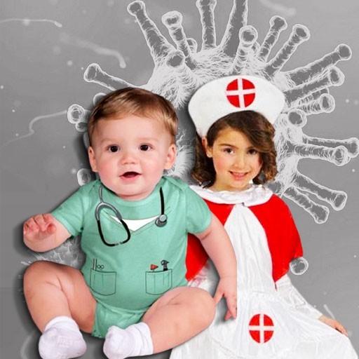 Disfraces de médicos y enfermeras para bebé