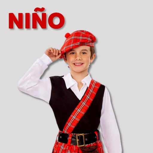 Disfraces de escoceses para niño
