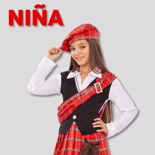 Disfraces de escoceses para niña