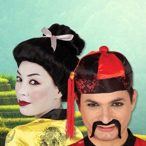 Accesorios disfraces chinos, orientales, ninjas y geishas