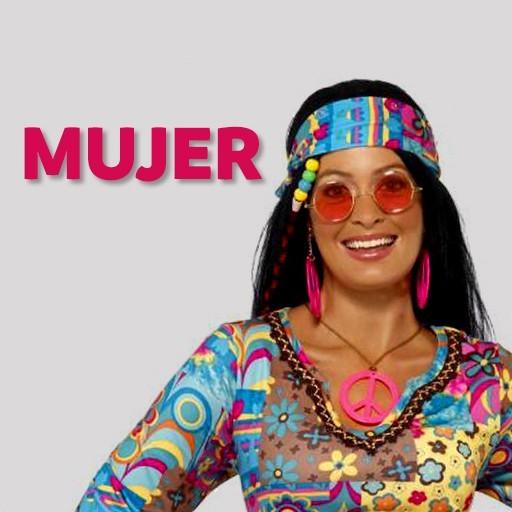 Disfraces hippies Años 60 para mujer