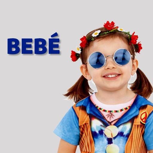 Disfraces hippies Años 60 para bebé
