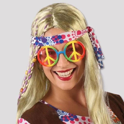 Accesorios disfraces hippies Años 60