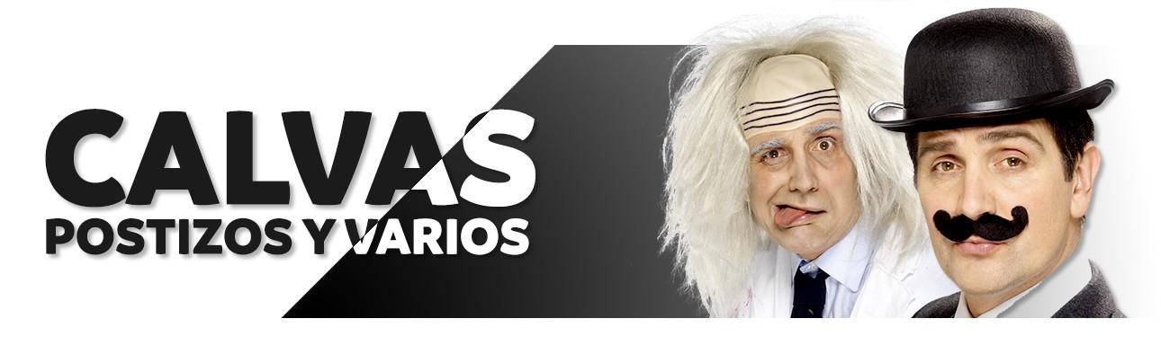 Calvas, bigotes y barbas postizas | Disfraces Antifaz, tienda de disfraces online